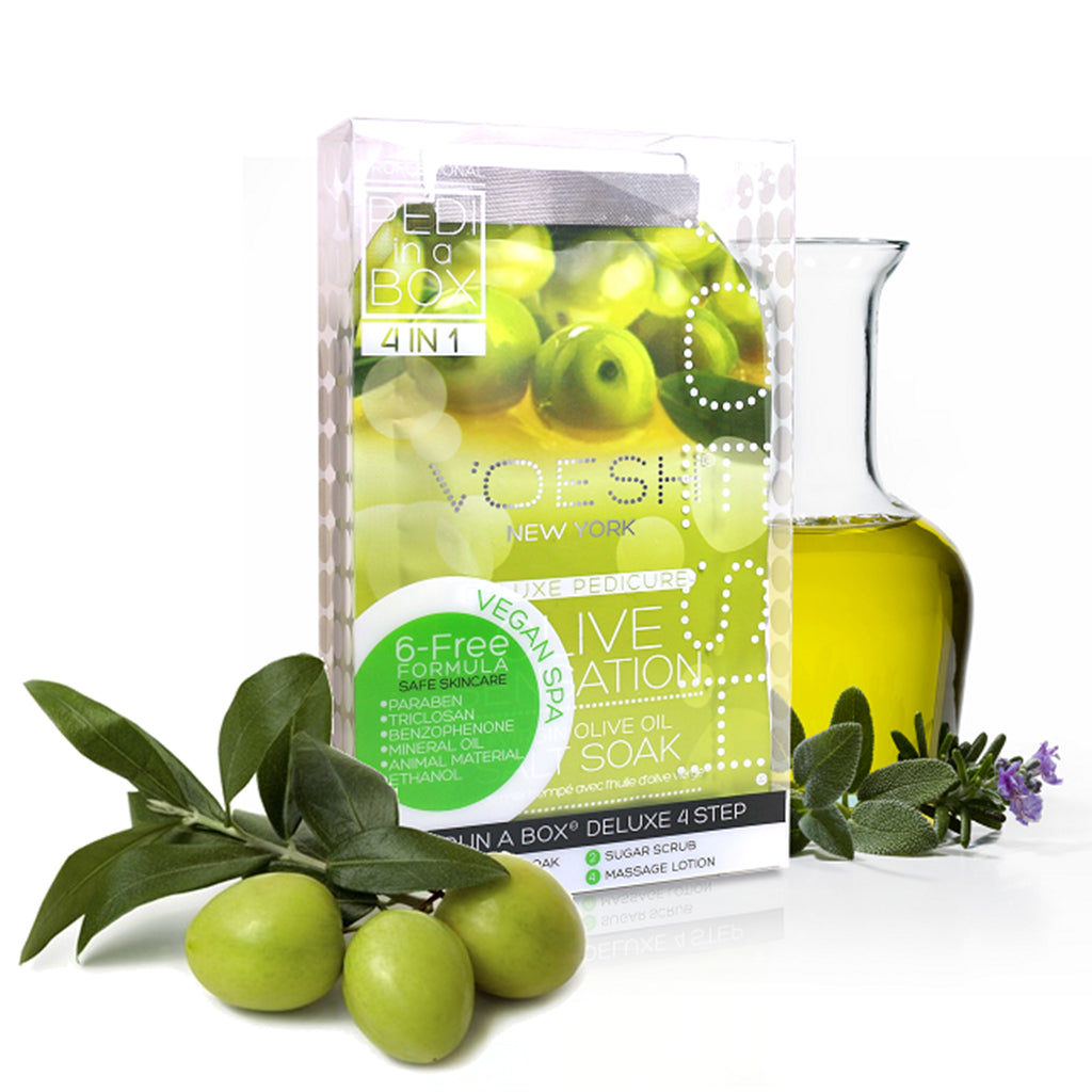 Voesh Pedi In A Box Deluxe 4 In 1 Kit Virgin Olive Sensation - brandstoreuae