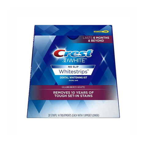 Crest 3D Whitestrips Dental Whitening Kit - Glamorous White - 28 Strips