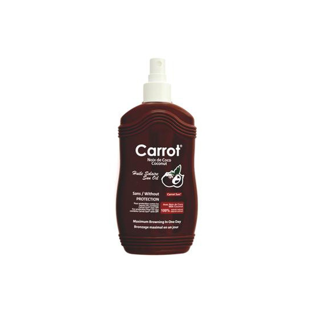 Carrot Sun Tanning Oil Sans/Without Protection- Coconut - 200ml - brandstoreuae