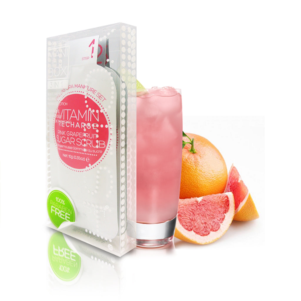 Voesh Mani In A Box Waterless 3 In 1 Kit Vitamin Recharge Pink Grapefruit - brandstoreuae