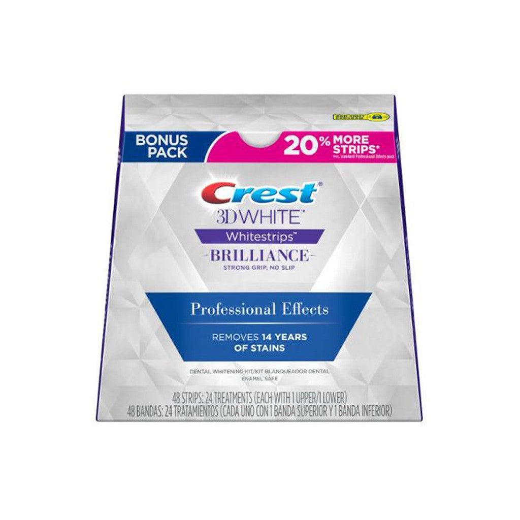 Crest 3D - White Strips Brilliance Effects Teeth Whitening Kit - 48 Strips / 24 Treatments - brandstoreuae