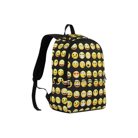 Smiley Emoji Face Printed School Bag