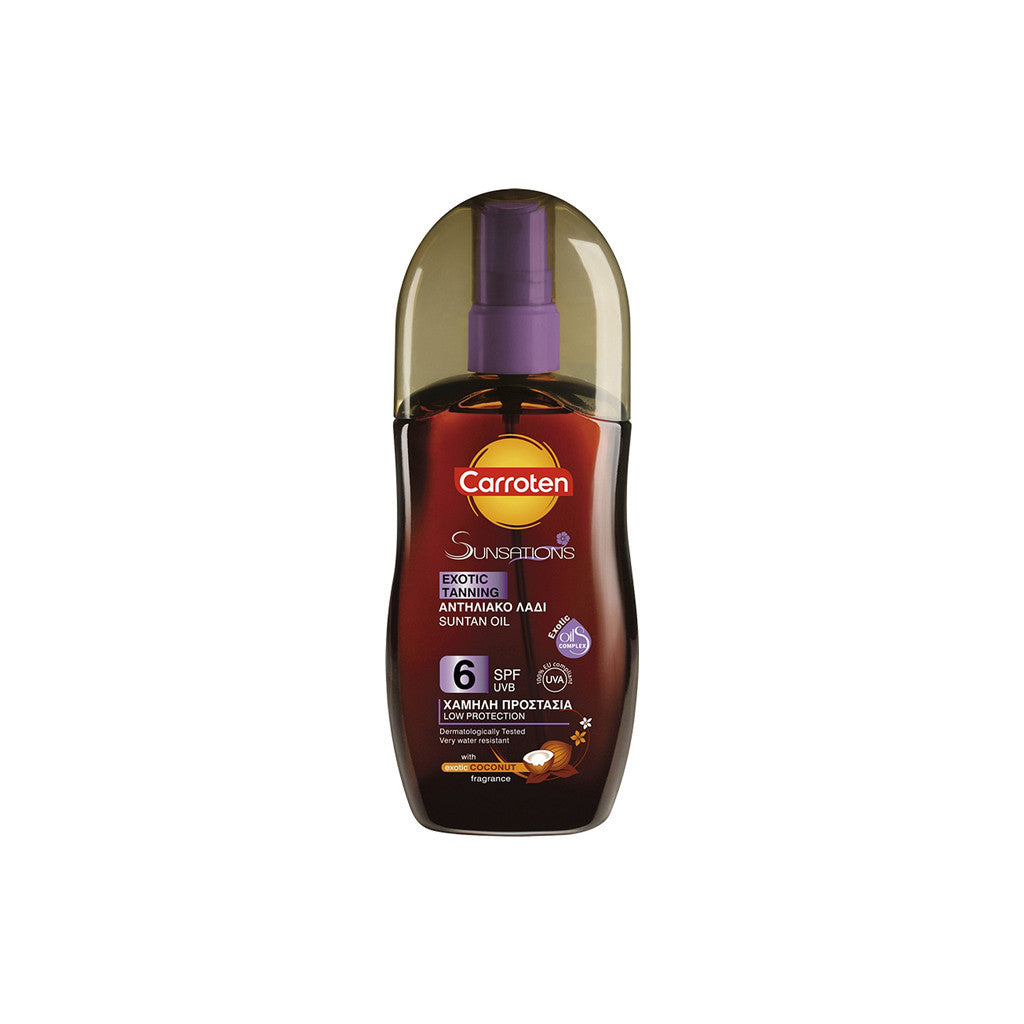Carroten Sunsation - Exotic Tanning Oil SPF6 with Coconut Fragrance - 125ml