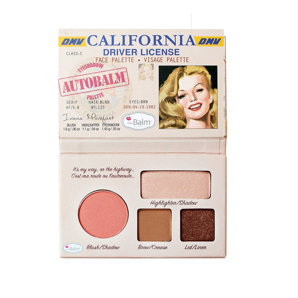 the Balm Autobalm California Face Palette - Multi Color - 1.6 oz - brandstoreuae
