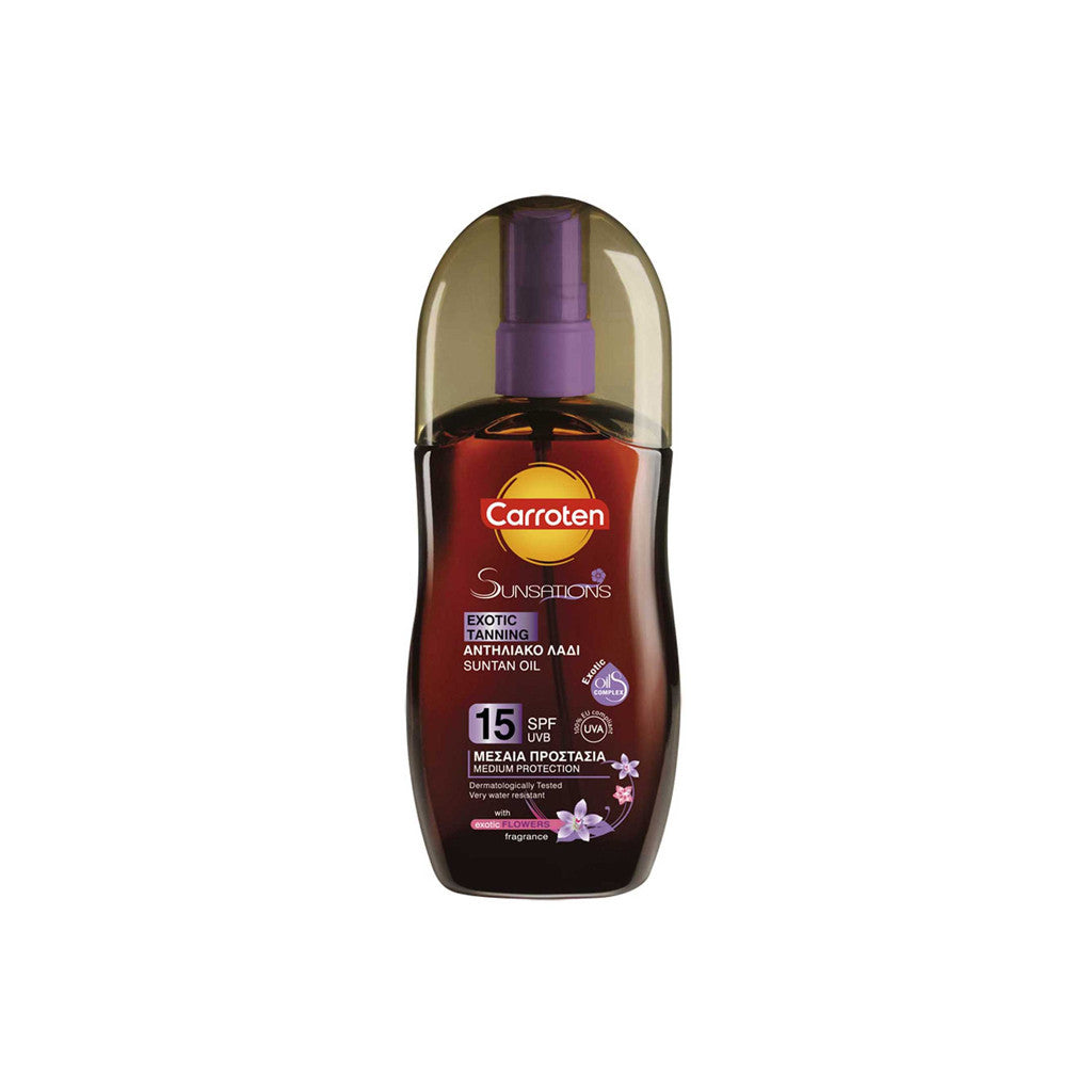 Carroten Sunsation - Exotic Tanning Oil With Flower Fragrance SPF15 - 125ml - brandstoreuae