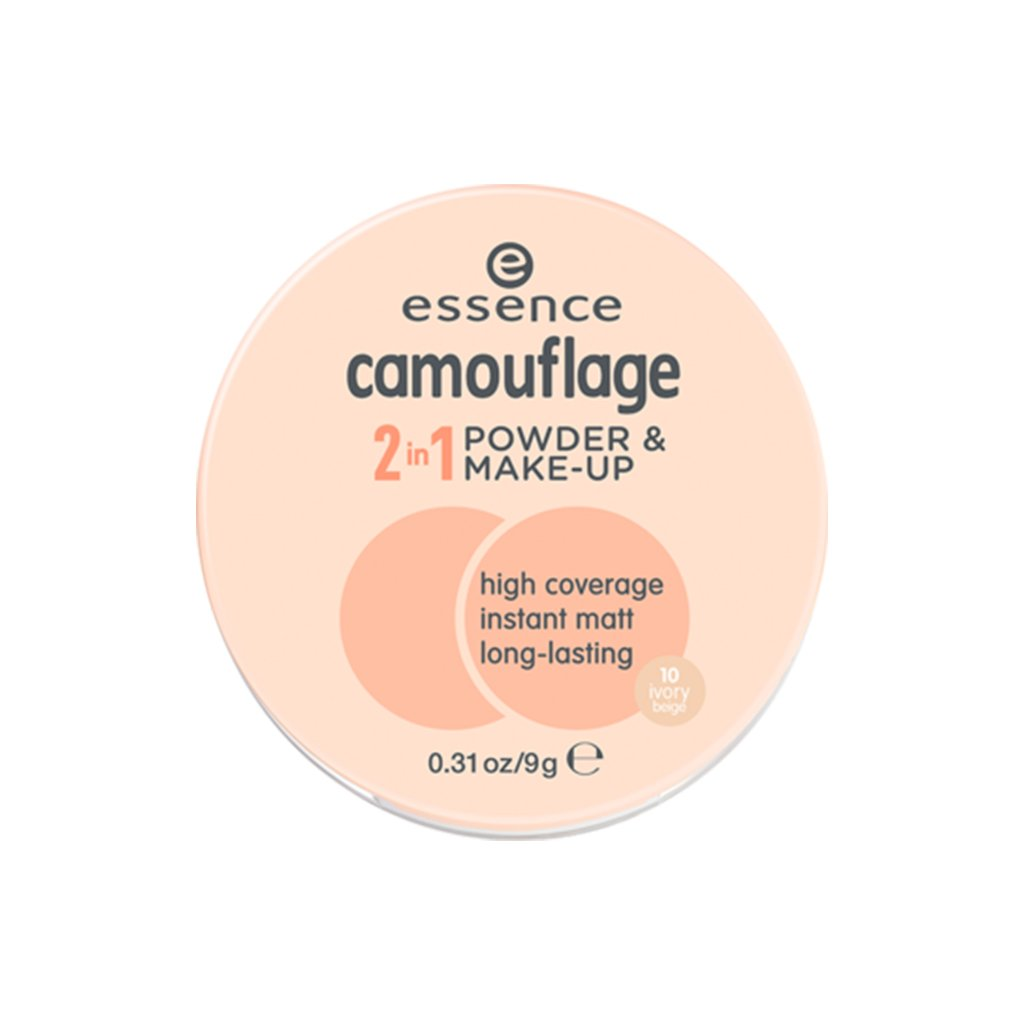 Essence - Camouflage 2 in 1 Powder & Makeup - 10 Ivory Beige - brandstoreuae