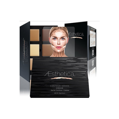 Aesthetica - Creme Contour & Highlighting Foundation Palette / Contouring Makeup Kit - Creme