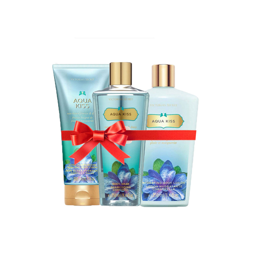 Victoria's Secret - Aqua Kiss Beauty Set (Combo of 3) - brandstoreuae