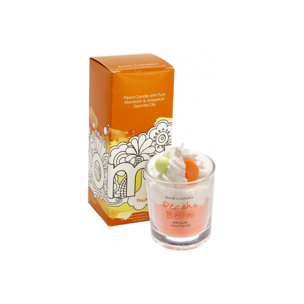 Bomb Cosmetics - Piped Candle - Peach Bellini - brandstoreuae