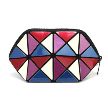 Geometric Foldable Cosmetic Bag For Women - brandstoreuae