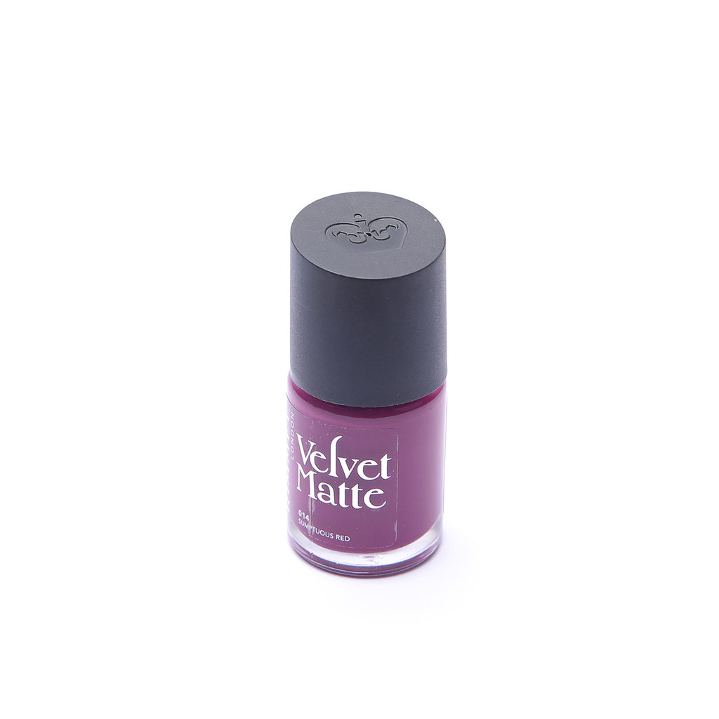 Rimmel London - Velvet Matte Nail Polish 14- Sumptuous Red - brandstoreuae