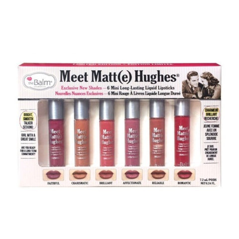 the Balm Meet Matte Hughes Set of 6 Mini Long-Lasting Liquid Lipstick - Volume 2 - brandstoreuae