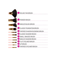 BH Cosmetics - Pink-A-Dot  - 11 Piece Brush Set - brandstoreuae