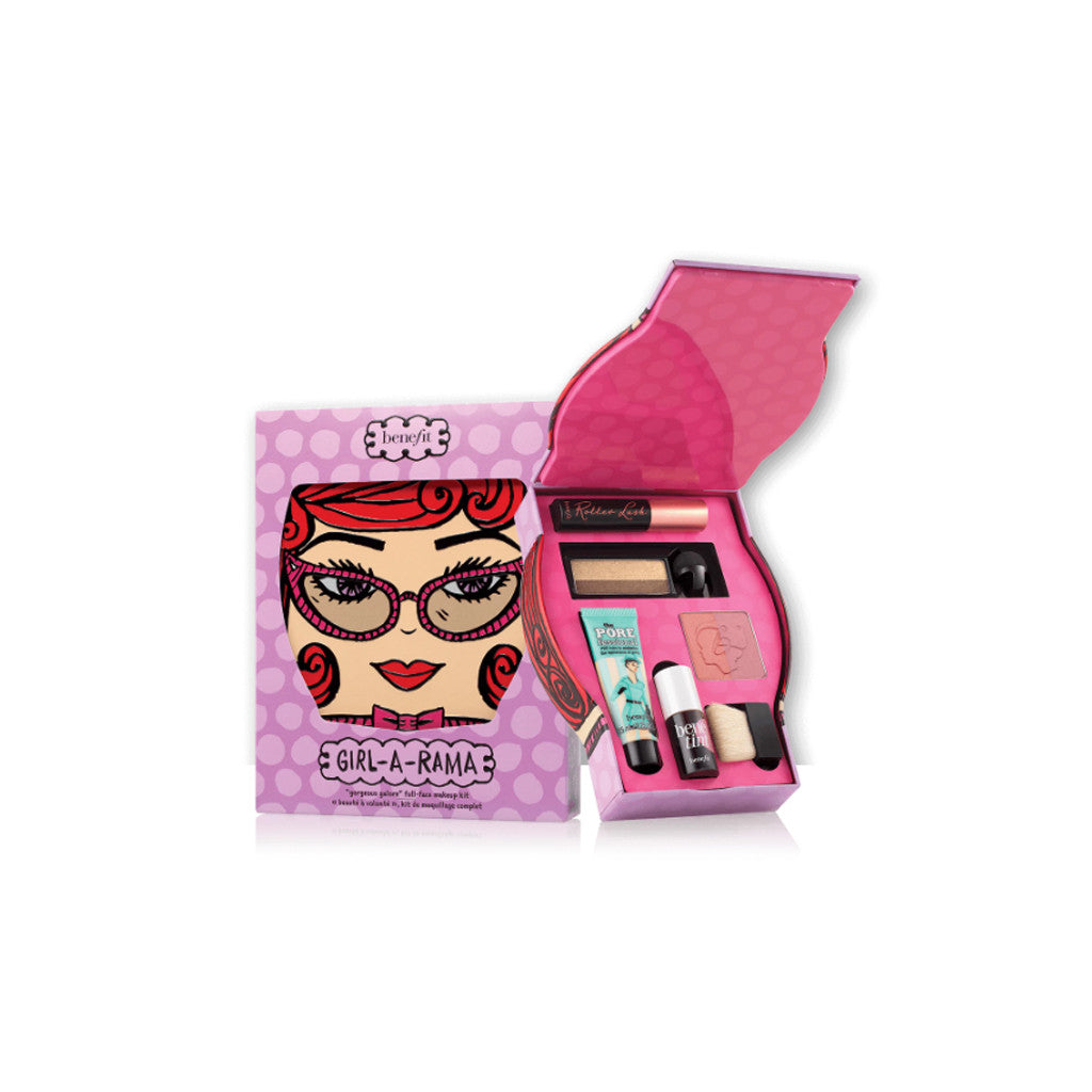 Benefit - GIRL-A-RAMA  'Gorgeous Galore' Full Face Makeup Kit - (6 pieces) - brandstoreuae
