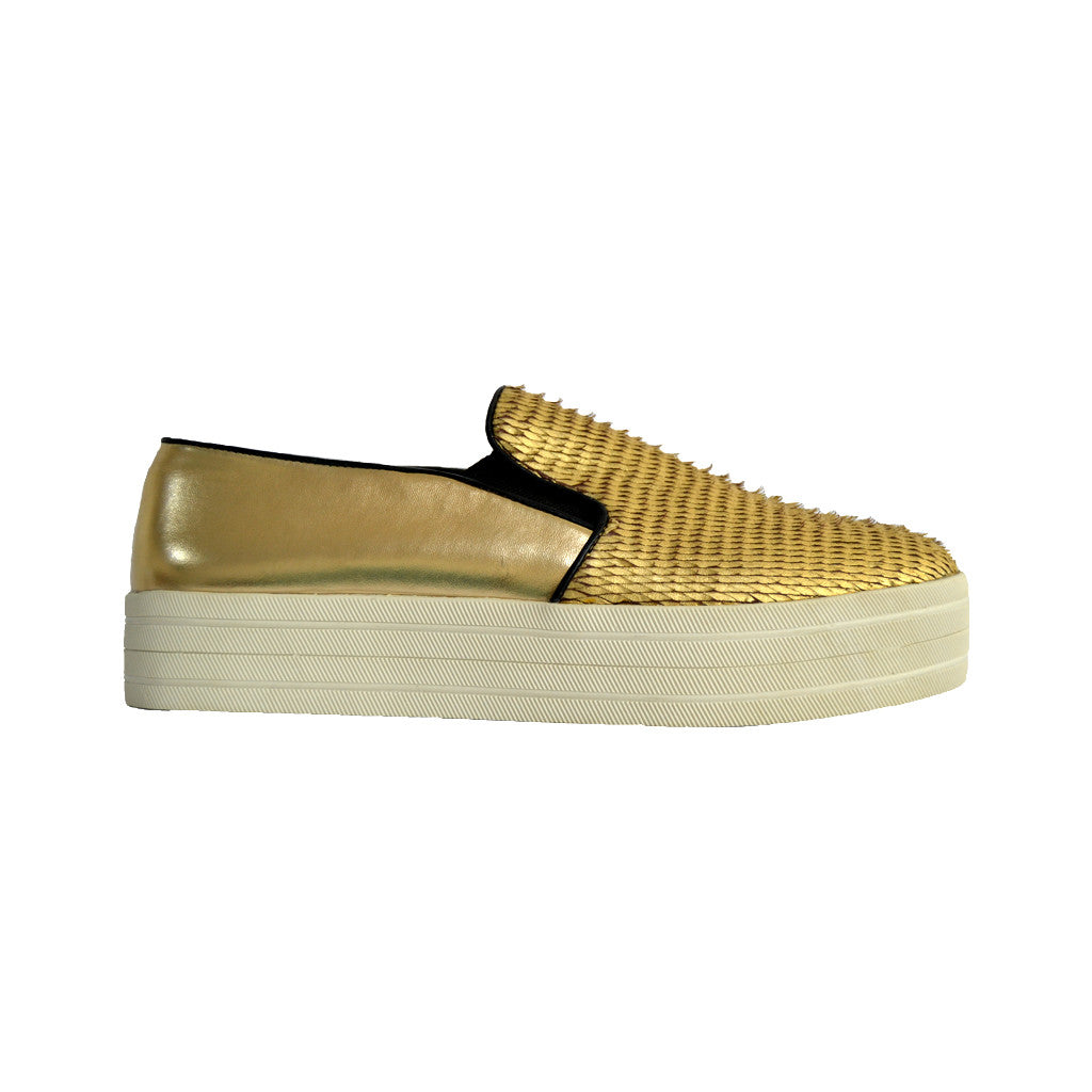 Steve Madden Buhba Gold Women Shoes