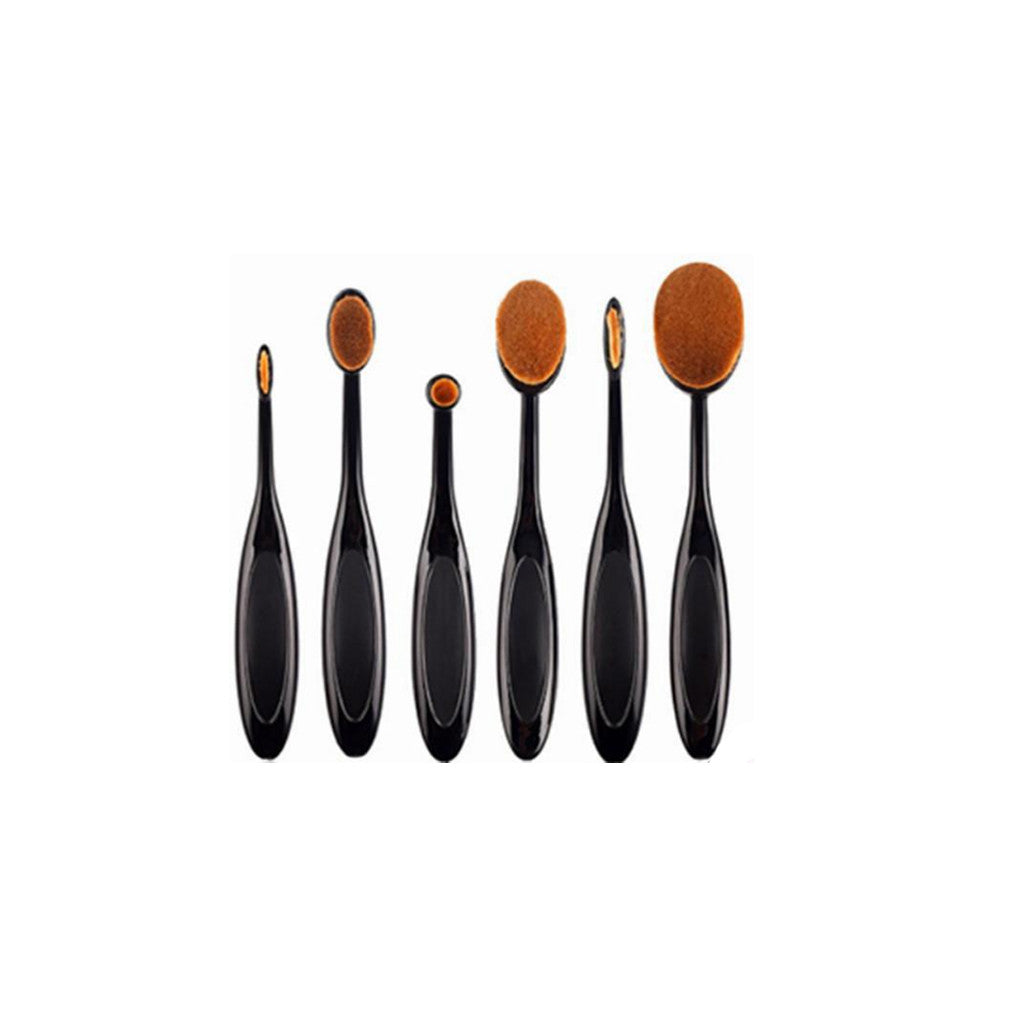 Oval Brushes - 6pcs Makeup Brushes Toothbrush Professional Kit for Foundation Powder - brandstoreuae