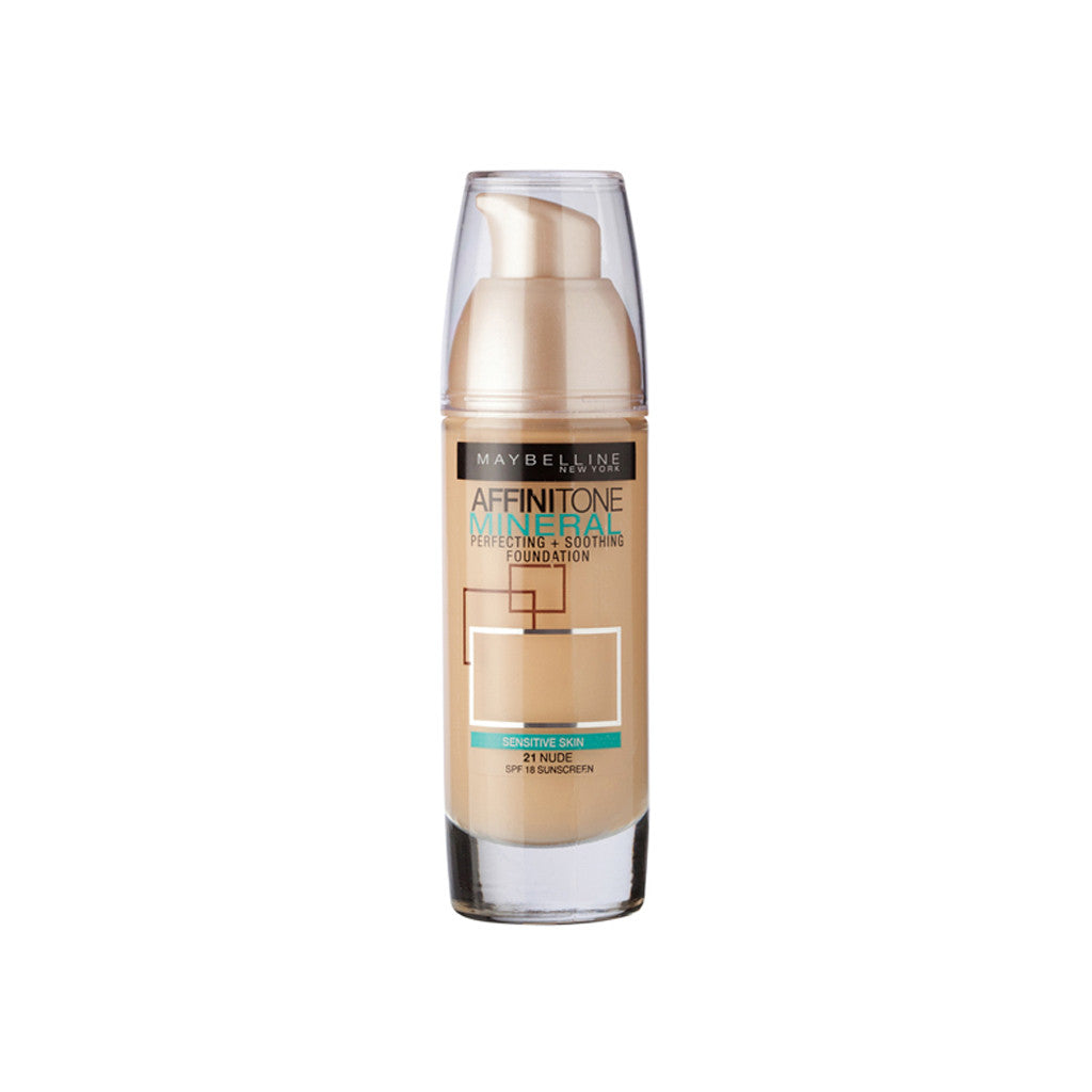 Maybelline New York - Affinitone Mineral Foundation - 21 Nude - brandstoreuae