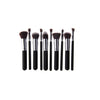 Kabuki Stylish Makeup Brushes - Professional Synthetic (10 Brush Set) - Black - brandstoreuae
