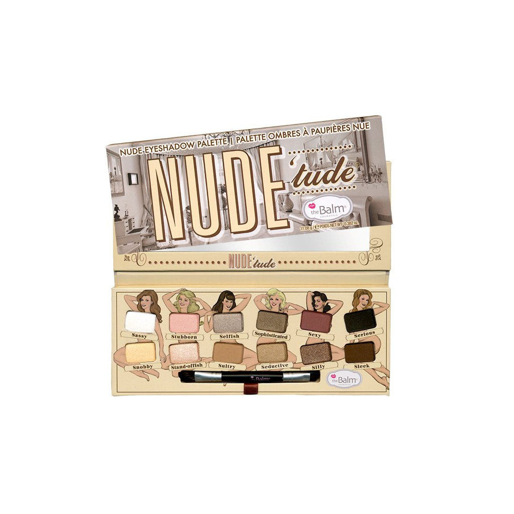 the Balm Nude Tude Eyeshadow Palette -12 colors - Naughty