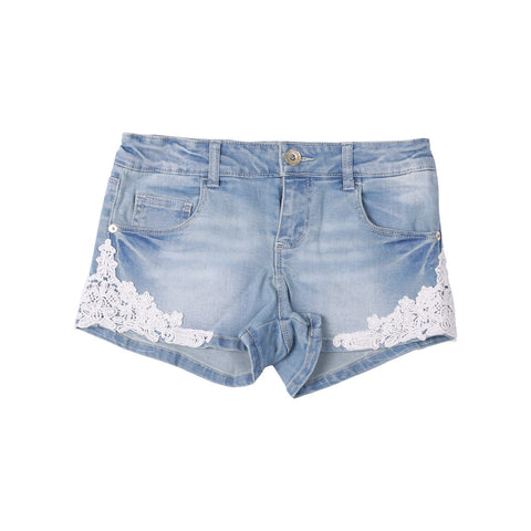 Guess lace and Cotton Stretch Shorts