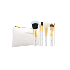 BH Cosmetics - Bright White - 6 Piece Brush Set With Cosmetic Bag - brandstoreuae
