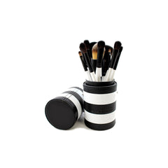 Morphe - Set 706 - 12 Piece Black and White Travel Set