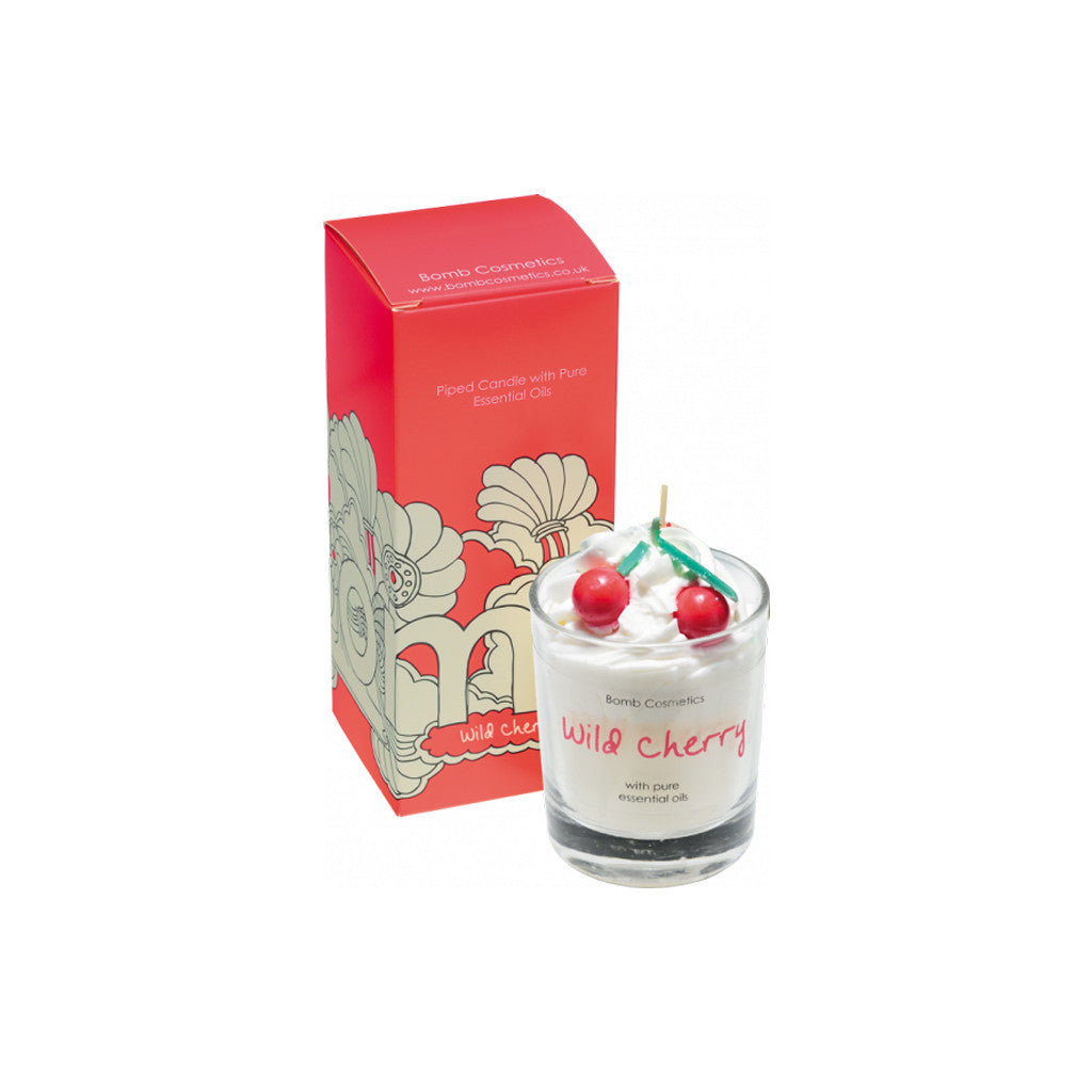 Bomb Cosmetics - Piped Candle - Wild Cherry - brandstoreuae