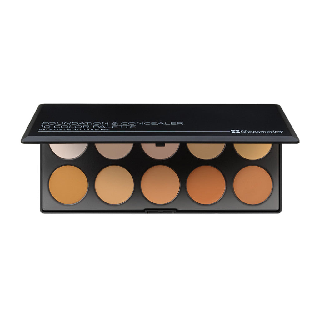 BH Cosmetics - Foundation and Concealer Palette (Light/Medium) - brandstoreuae