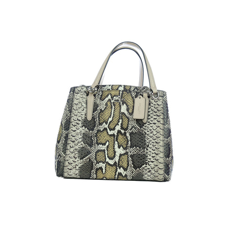 Coach Python Leather Minetta Handbag - Hand Bag - Coach