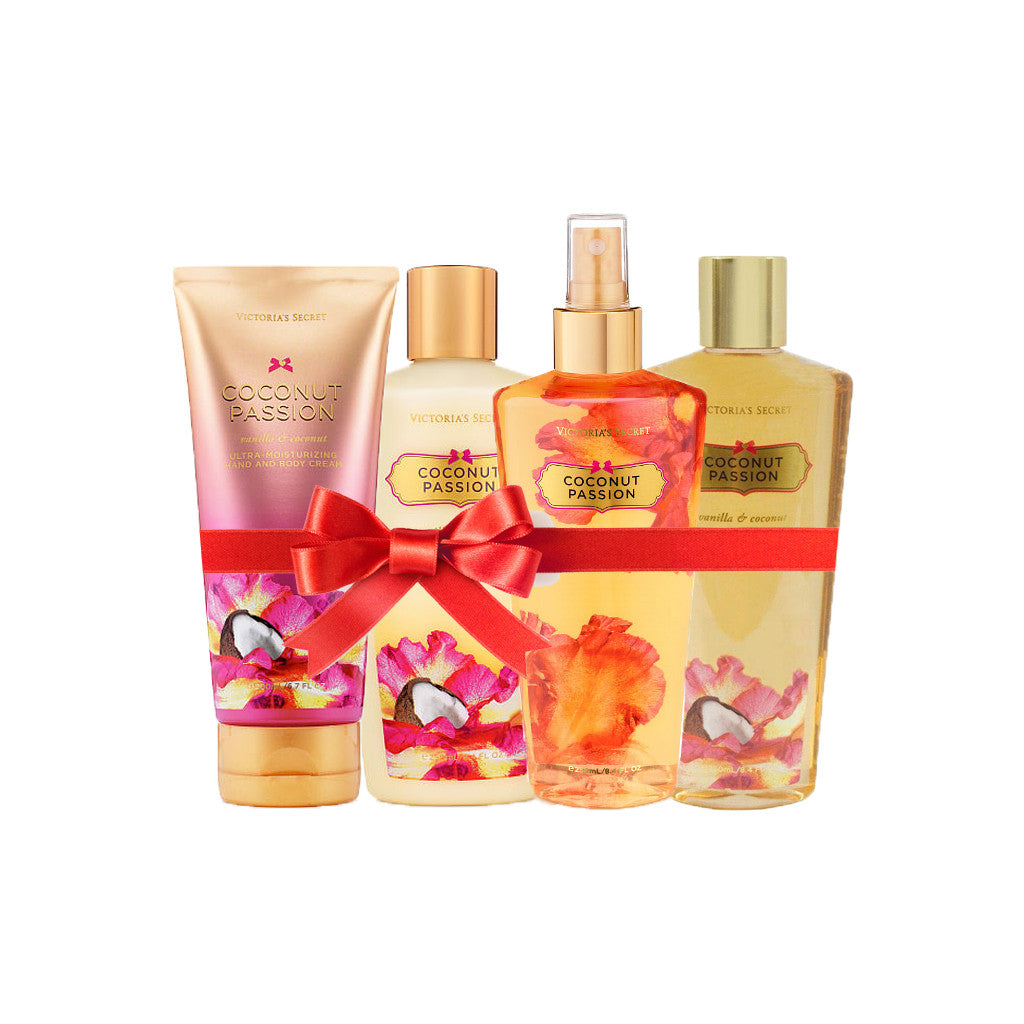 Victoria's Secret - Coconut Passion Beauty Set (Combo of 4) - brandstoreuae