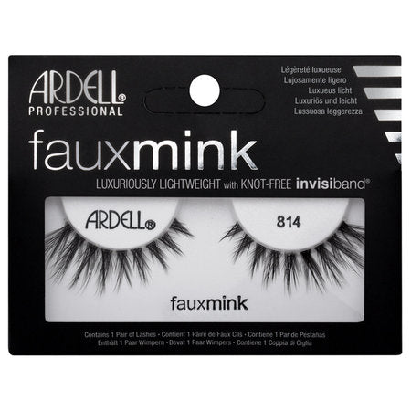 Ardell Professional Faux Mink Lashes - 814 Black - brandstoreuae