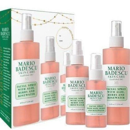 Mario Badescu - Facial Spray With Aloe, Herbs and Rose Water - Trio Set - brandstoreuae