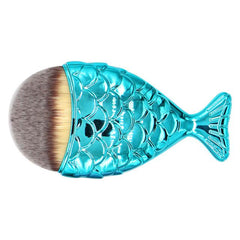 Oval Brushes - Professional Blue Mermaid Makeup Contour Brush With Fish Tail Brush Handle - brandstoreuae