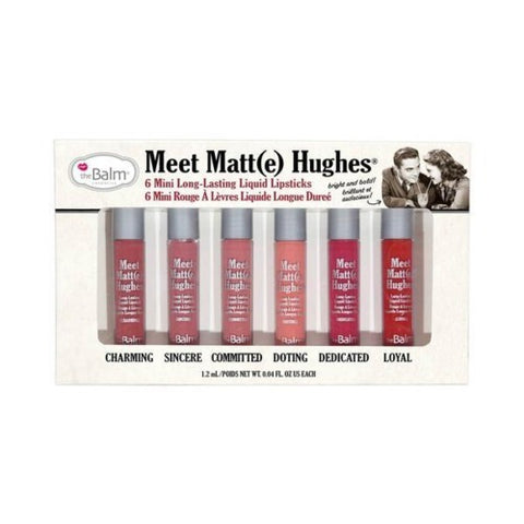 the Balm Meet Matte Hughes Set of 6 Mini Long-Lasting Liquid Lipstick - brandstoreuae