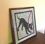 "Handmade Tile Mosaic Replica of The Art of Pompeii Italy 18"" x 18"""