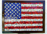 USA Flag Stars & Stripes Mosaic Wall Art