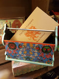 Blue floral Magazine storage rack
