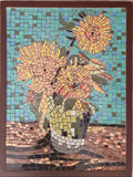 Van Gogh Sunflower Mosaic Wall Art