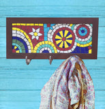 Pinwheel mosaic Coat rack