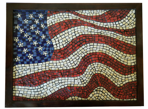 USA Flag Waving Stars & Stripes Mosaic