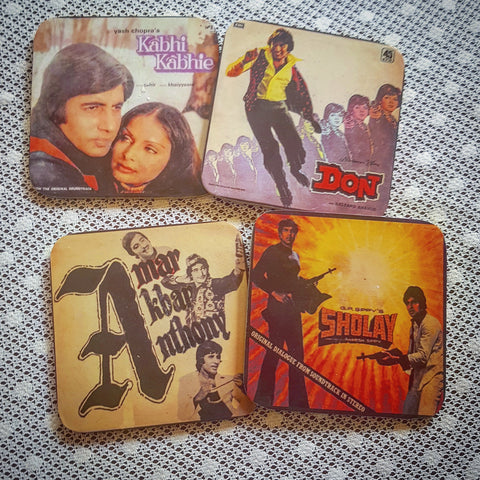 Classic Bachan Movies coaster set of four