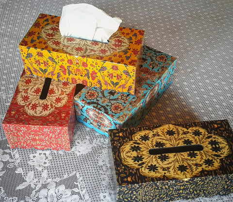 Glitter Tissue Box Holders