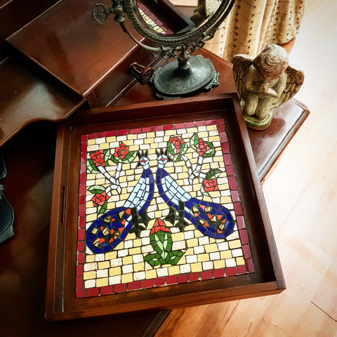 Peacock Mosaic Serving Trays