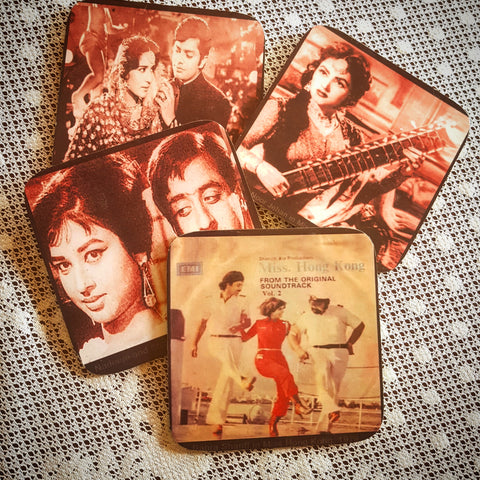 Movie icons of Pakistan coaster set of four
