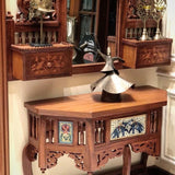 Peacock mosaic mirror and Elephant mosaic table console