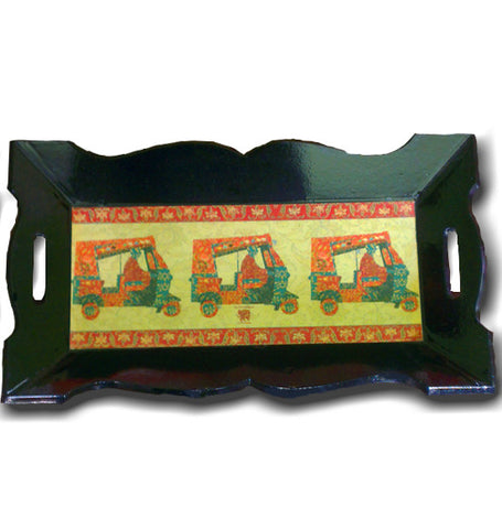 Rickshaw serving tray