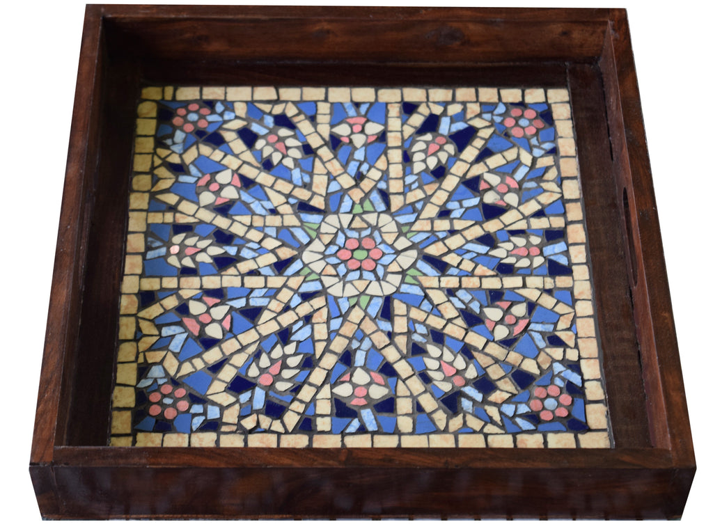 Shimmer Mosaic Serving Tray The Craft Company By Muna Siddiqui Mosaic Gifts Home Decor