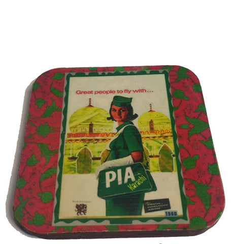 Retro PIA coasters (set of six)