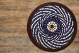 Abstract evil eye mosaic wall art