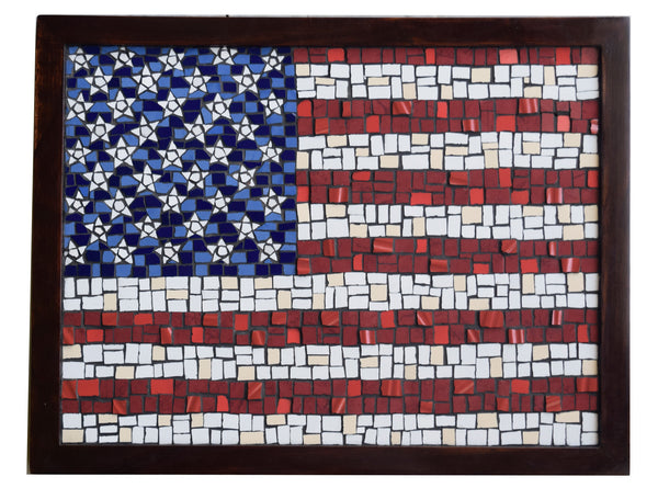 Usa Flag Stars Amp Stripes Mosaic Wall Art The Craft